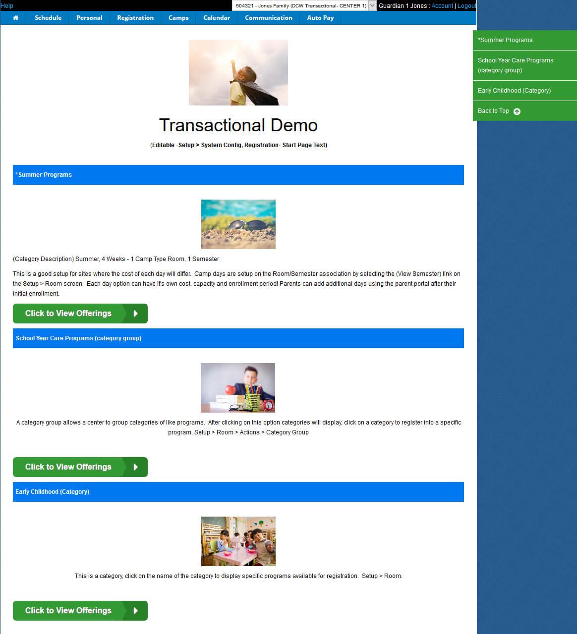 SchoolCareWorks Parent Portal Registration